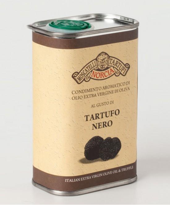 Olio Extravergine di Oliva al gusto di Tartufo Nero ml 250