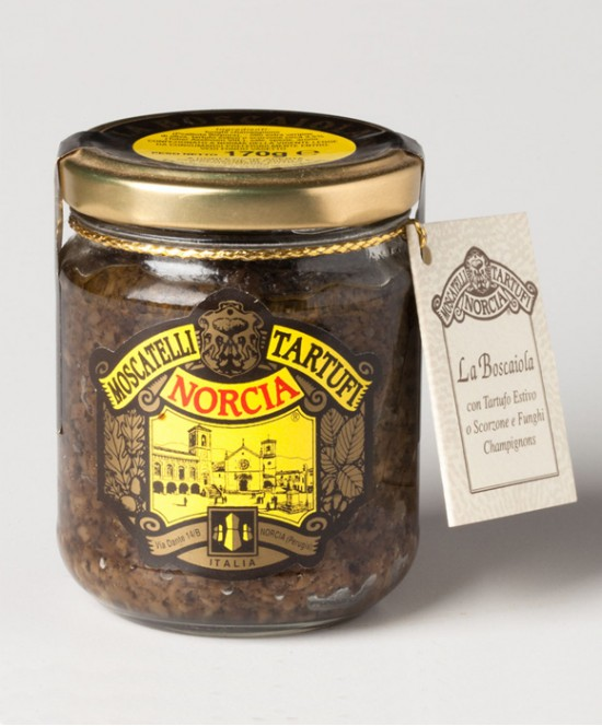Boscaiola con Tartufi Estivi o Scorzoni (Tuber Aestivum Vitt.) e Funghi Champignon g 170